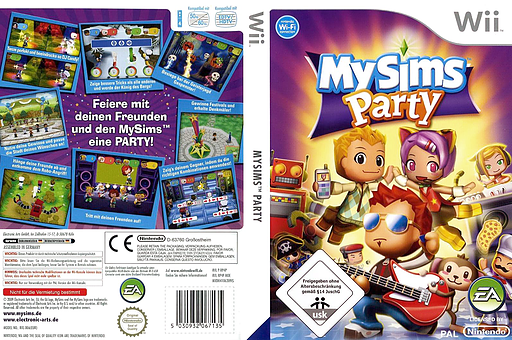 MySims Party Wii cover (RP4P69)