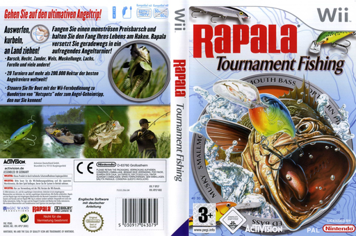Rapala Tournament Fishing Wii cover (RPLP52)