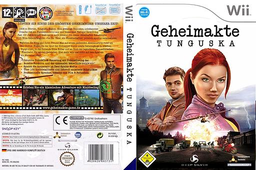 Geheimakte: Tunguska Wii cover (RTUPKM)