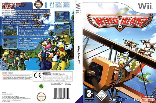 Wing Island Wii cover (RWIP18)