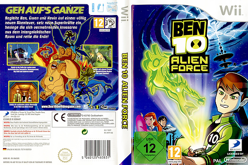 Ben 10: Alien Force Wii cover (RWTPG9)