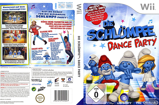 Die Schlümpfe: Dance Party Wii cover (SDUP41)