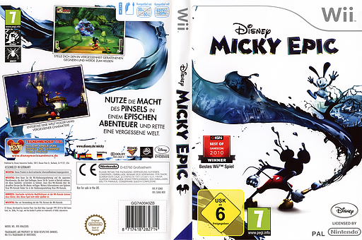 Disney Micky Epic Wii cover (SEMX4Q)