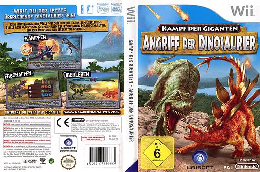 Kampf der Giganten: Angriff der Dinosaurier Wii cover (SGXP41)