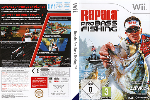 Srfp52 rapala pro bass fishing for Wii u fishing game