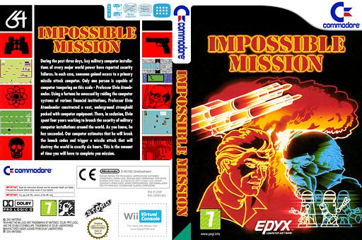Impossible Mission VC-C64 cover (C95P)