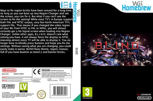 B.L.I.N.D. Homebrew cover (D1LA)