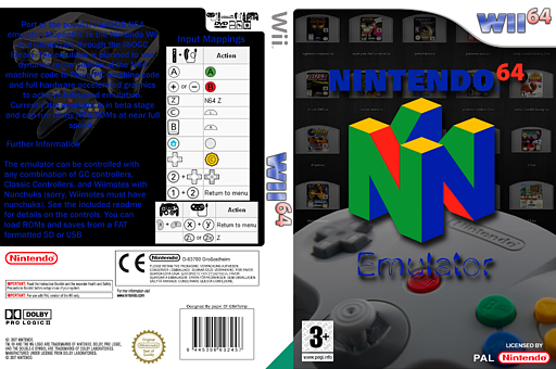 Wii64 Emulator Homebrew cover (D64A)