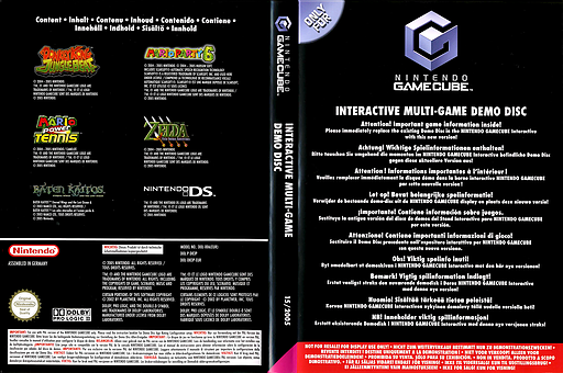 Interactive Multi-Game Demo Disc - February 2005 GameCube cover (D83P01)