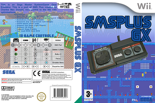 Sega Master System Plus Homebrew cover (DSMA)