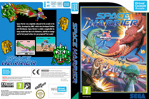 Space Harrier VC-Arcade cover (E62P)