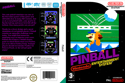 Pinball VC-NES cover (FACP)