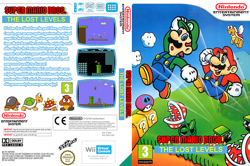 Super Mario Bros.: The Lost Levels VC-NES cover (FB2L)