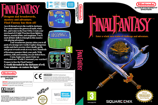 Final Fantasy VC-NES cover (FFAM)