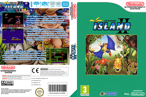 Adventure Island 2 VC-NES cover (FFUP)