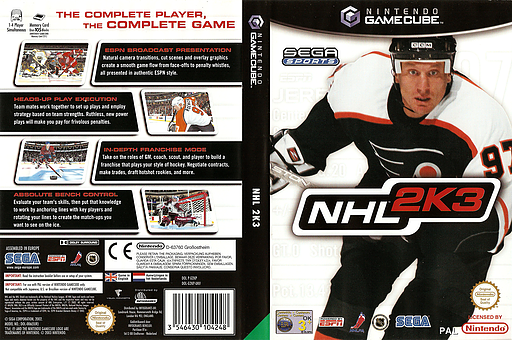 NHL 2K3 GameCube cover (G2KP8P)