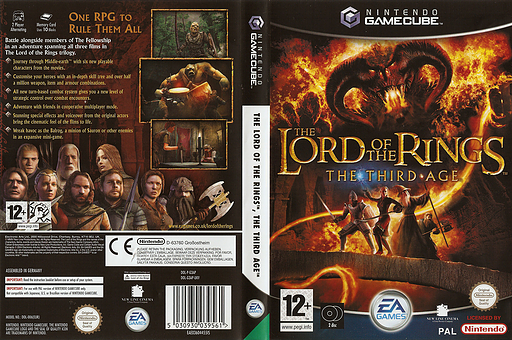 The Lord of the Rings: The Third Age GameCube cover (G3AP69)