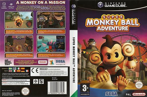 Super Monkey Ball Adventure GameCube cover (G3LP8P)