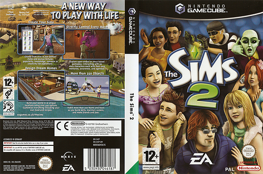 The Sims 2 GameCube cover (G4ZP69)