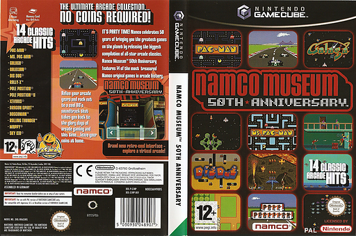 Namco Museum 50th Anniversary GameCube cover (G5NP69)