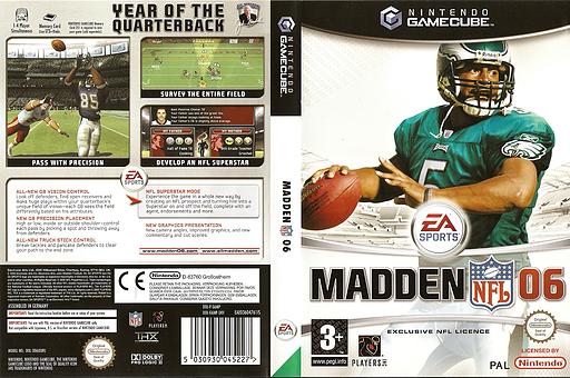 Madden NFL 06 GameCube cover (G6MP69)