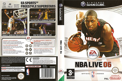 NBA Live 06 GameCube cover (G6NP69)