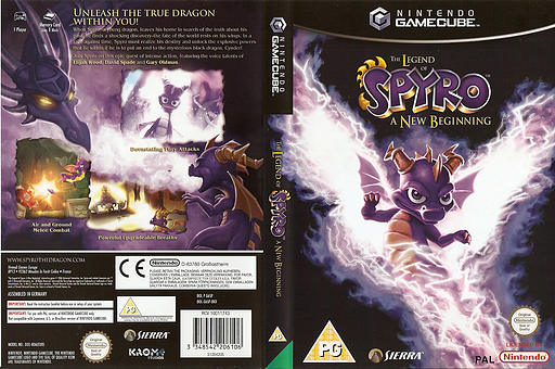 The Legend of Spyro: A New Beginning GameCube cover (G6SP7D)