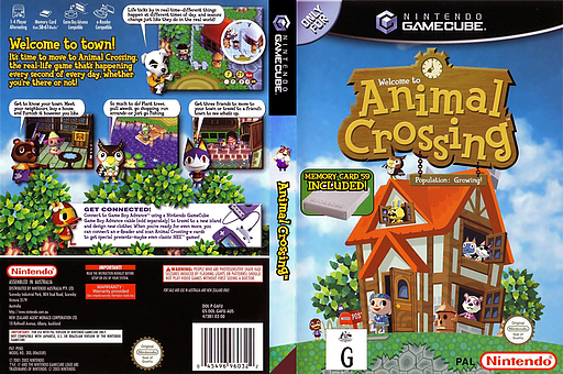 Animal Crossing GameCube cover (GAFU01)
