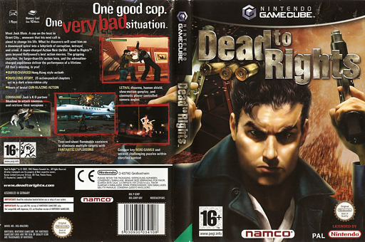 Dead to Rights GameCube cover (GDRP69)