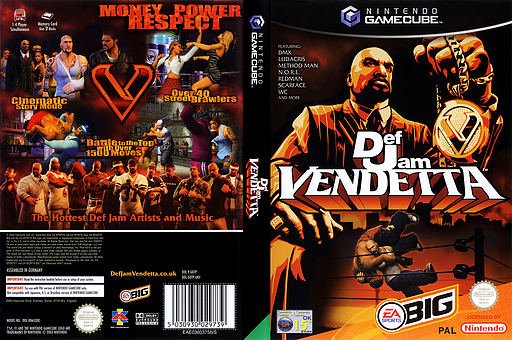 Def Jam Vendetta GameCube cover (GDTP69)