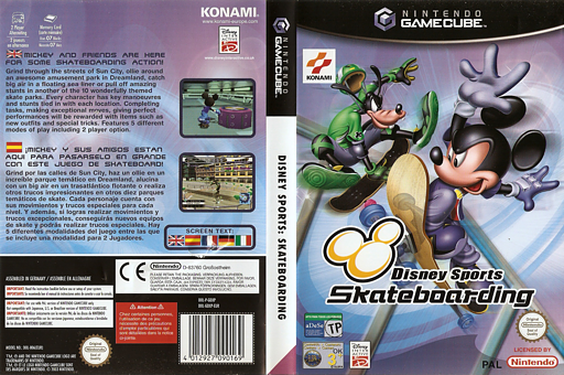 Disney Sports Skateboarding GameCube cover (GDXPA4)