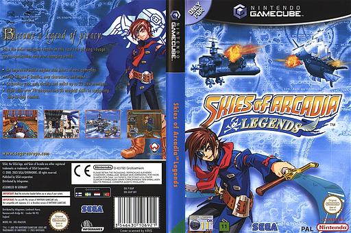 Skies of Arcadia Legends GameCube cover (GEAP8P)