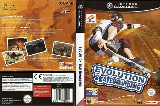 Evolution Skateboarding GameCube cover (GESPA4)