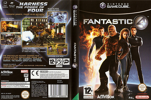 Fantastic Four GameCube cover (GF4F52)