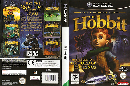 The Hobbit GameCube cover (GHBP7D)