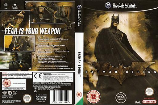 Batman Begins GameCube cover (GINX69)