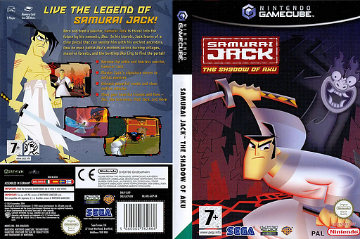 Samurai Jack: The Shadow of Aku GameCube cover (GJCP8P)