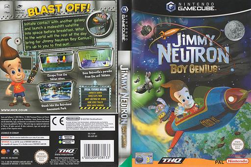 Jimmy Neutron Boy Genius GameCube cover (GJNP78)