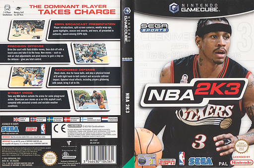 NBA 2K3 GameCube cover (GK3P8P)