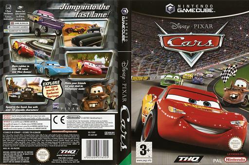 Cars GameCube cover (GKJP78)