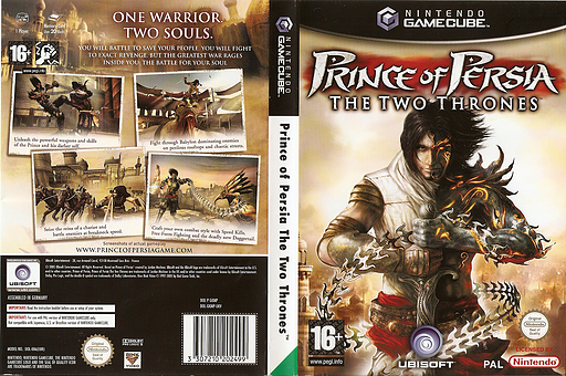 Prince of Persia: The Two Thrones GameCube cover (GKMP41)