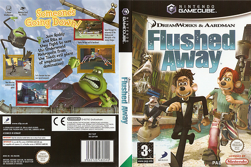 Flushed Away GameCube cover (GLHPG9)
