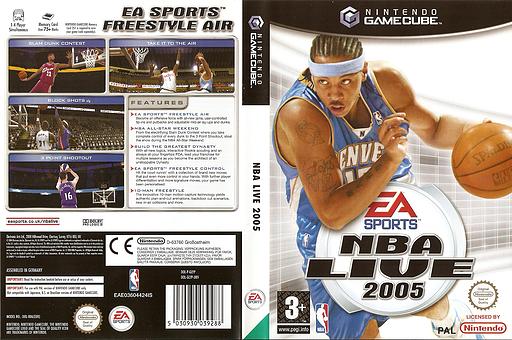 NBA Live 2005 GameCube cover (GLYP69)