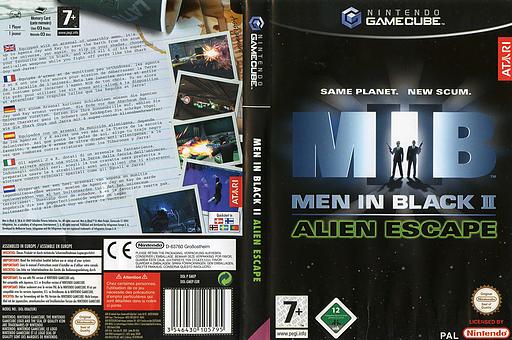 Men In Black II:  Alien Escape GameCube cover (GMEP70)