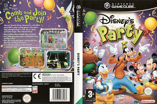 Disney's Party GameCube cover (GMTP69)