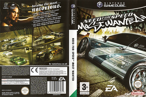 Need for Speed: Most Wanted GameCube cover (GOWP69)