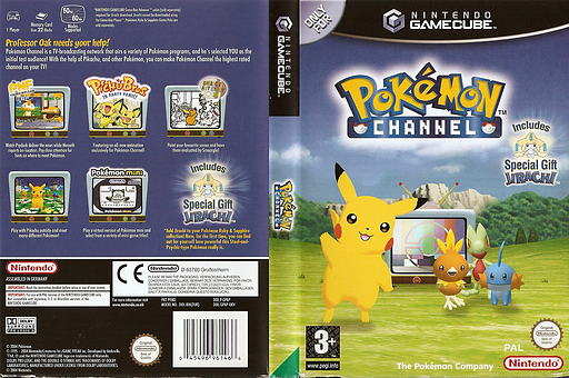 Pokémon Channel GameCube cover (GPAP01)