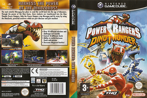 Power Rangers Dino Thunder GameCube cover (GRUP78)