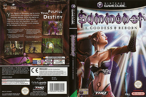 Summoner: A Goddess Reborn GameCube cover (GS2P78)