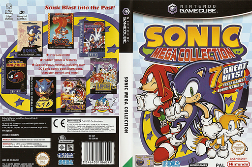 Sonic Mega Collection GameCube cover (GSOP8P)